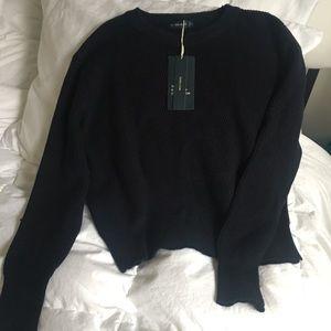 NWT Zara Navy blue sweater size small